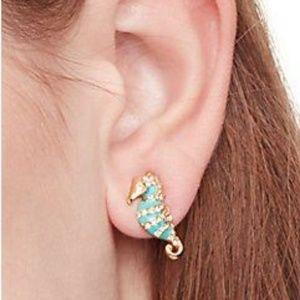 Kate spade paradise found sea horse mini earrings